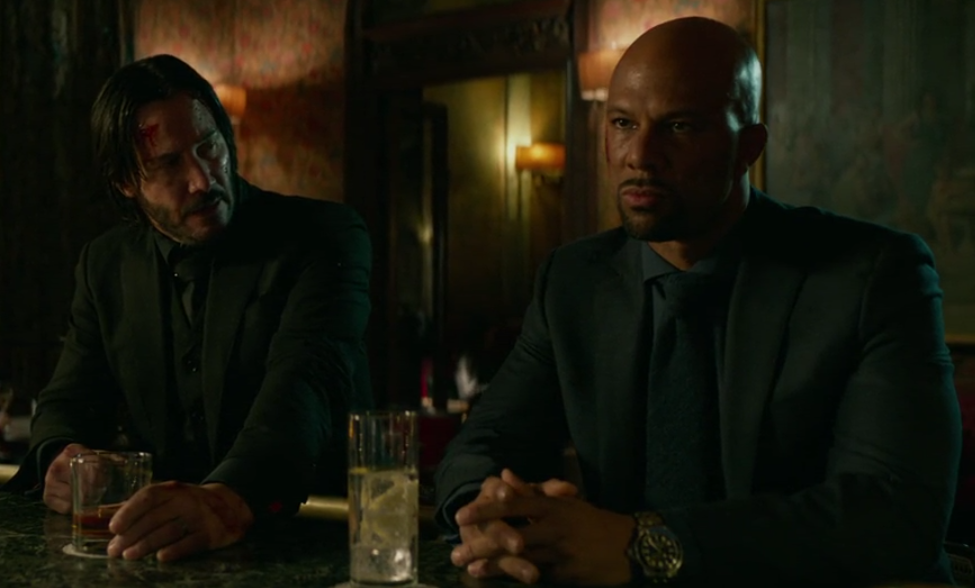 John Wick and Cassian at the bar